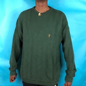 Awesome green Chaps Ralph Lauren heavy sweater